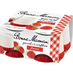 Yaourt à la confiture fraises