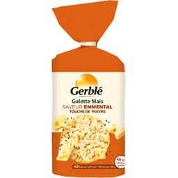 Gerblé Galette de maïs saveur emmental touche de poivre