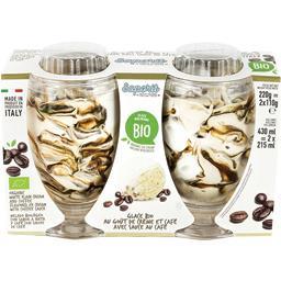 Saporit Glace au goût de crème et café avec sauce au café BI... les 2 pots de 110 g