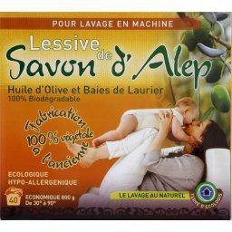 Lessive de savon d'Alep pour lavage en machine, fabrication 100% végétale à l'ancienne, Le savon de 800g
