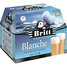 Britt Bière blanche au malt de froment les 12 bouteilles de 25 cl