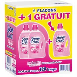 Super Croix Lessive liquide Cachemire les 2 flacons de 3,01 l