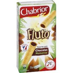 Biscuits Fluto nappage goût chocolat noisette