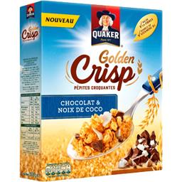 Quaker Golden Crisp - Pépites croquantes chocolat & noix de... la boite de 500 g