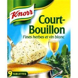 Court-bouillon fines herbes et vin blanc