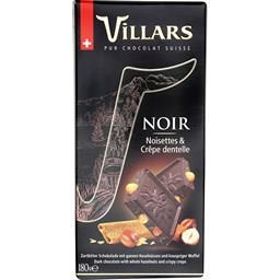 Chocolat noir noisettes & crêpe dentelle