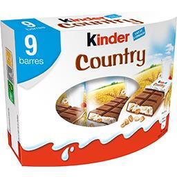 Country - Barres chocolatées lait et céréales