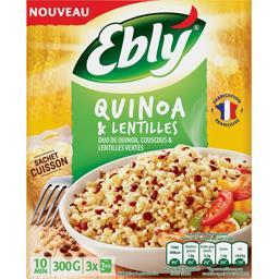 Quinoa et Lentilles Ebly