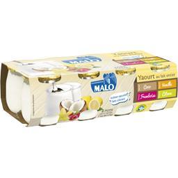 Yaourt au lait entier coco/vanille/framboise/citron