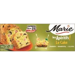 Les Apéritifs - Le Cake jambon, emmental, olives,MARIE,le cake, 245 g