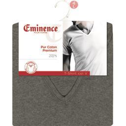 T-shirt manche courte col V taille 4 gris