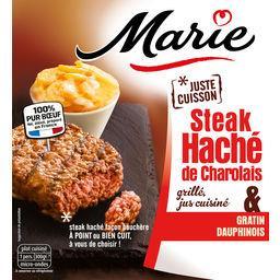 Steak haché de Charolais & gratin dauphinois