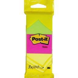 Notes adhésives repositionnables, 51x38mm, coloris a...