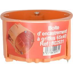 Boite d'encastrement à griffes 65x40 Réf : 802931
