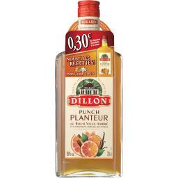 Punch Planteur au rhum vieux ambré et rhum blanc agr...