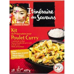 Saveur d'Asie - Kit de préparation pour poulet curry
