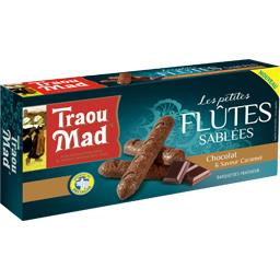 Traou Mad de Pont-Aven Les Petites Flûtes sablées chocolat saveur caramel la boite de 130 g