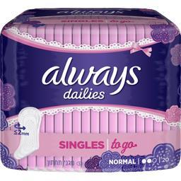 Dailies - Protège-slips Singles To Go