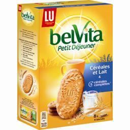 Belvita Petit Déjeuner - Biscuits céréales et lait &...