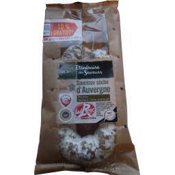 Itinéraire des Saveurs Saucisse sèche d'Auvergne pur porc Label Rouge le paquet de 300 g