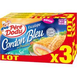 Escalope cordon bleu de poulet réduit en sel
