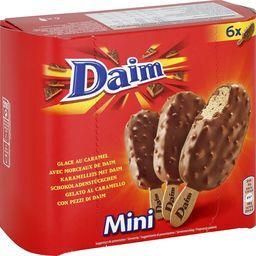 Mini bâtonnets de glace caramel et morceaux