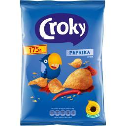 Croky Chips paprika le sachet de 175 g