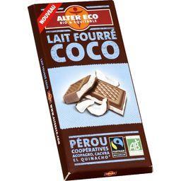 Chocolat au lait fourré coco BIO