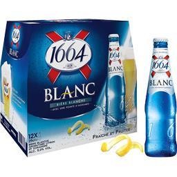 Bière blanche aromatisée citron coriandre