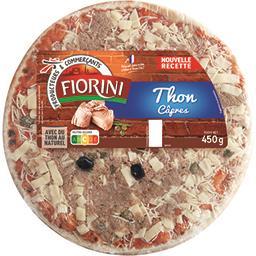 Pizza thon mozzarella olives câpres