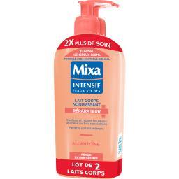 Mixa Intensif Peaux Sèches - Lait corps nourrissant Répar... les 2 flacons de 300 ml