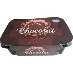 Les Cigalines Crème glacée chocolat le bac de 580 g