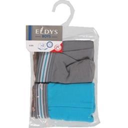 Boxers gris/bleu pocket 2/3 ans