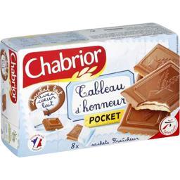 Biscuits Pocket chocolat lait avec cœur lait