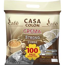 Dosettes de café moulu Crema corsé