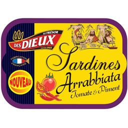 Le Trésor des Dieux Sardines Arrabbiata tomate & piment la boite de 115 g