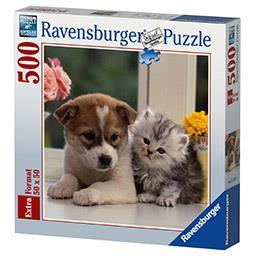Puzzle 50x50 cm 500 pièces Tendres amis