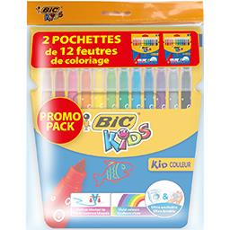 Bic Kids - Feutres de coloriage les 2 pochettes de 12