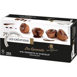 Les Gourmets mini fondants au chocolat cœur coulant