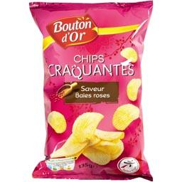 Chips craquantes, saveur baies roses