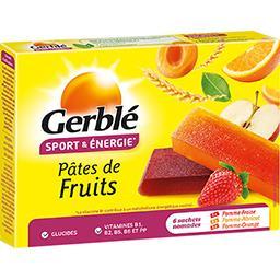 Pâtes de fruits diététiques, pomme fraise orange abr...