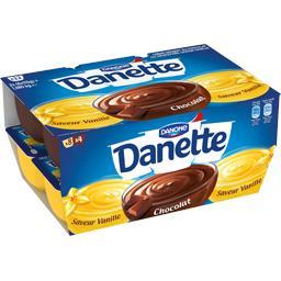 Danette - Crème dessert saveur vanille & chocolat