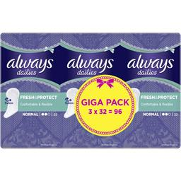 Always Protège-slips Normal Dailies Extra Protect le lot de 3 pack de 32