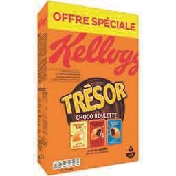 Kellogg's Trésor - Céréale Choco Roulette 3 saveurs la boite de 750 g