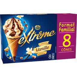 Nestlé Extrême L'Original - Cônes vanille pépites de nougatine