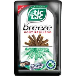 Tic Tac Pastilles Breeze goût réglisse sans sucres