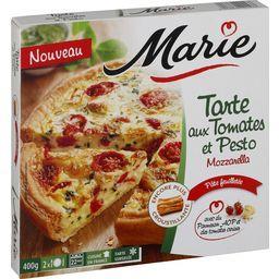 Tarte aux tomates et pesto mozzarella