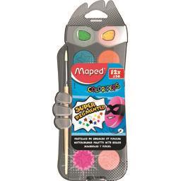Maped pastilles peinture à l'eau 30mm x 12 boîte plastique