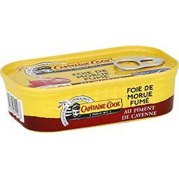 Foie de morue fumé au piment de Cayenne