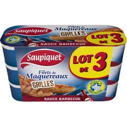 Saupiquet Filets de maquereaux grillés sauce barbecue